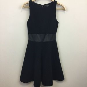 Club Monaco Black Diamond Texture Dress Pockets